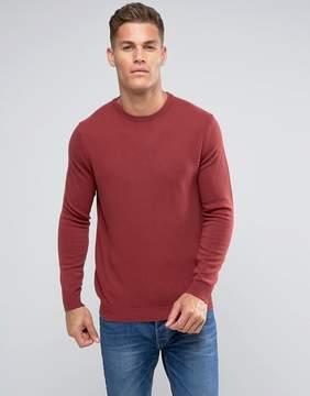 Benetton 100% Merino Sweater In Rust