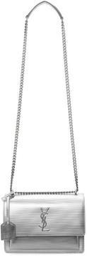 Saint Laurent Silver Medium Monogram Sunset Chain Satchel