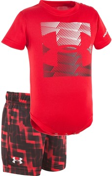 Under Armour Baby Boy Logo Graphic Bodysuit & Geometric Shorts Set