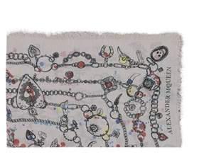 Alexander McQueen Women's Pink Silk Scarf.