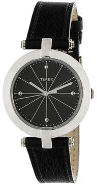 Timex Women's Style Elevated TW2P79300 Black Leather Quartz Fashion Watch