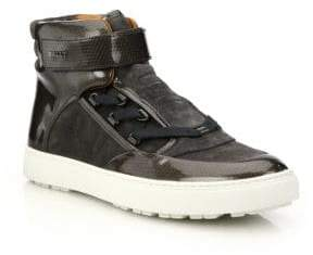 Bally Osmond Mixed Media High-Top Sneakers