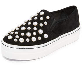 Alice + Olivia Sasha Pearls Slip On Sneakers