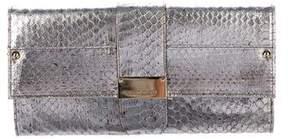 Jimmy Choo Metallic Snakeskin Clutch