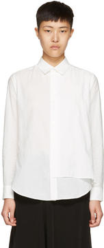 Y's Ys White Double Layer Shirt