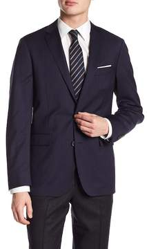 Brooks Brothers Navy Pinstripe Two Button Wool Sport Coat