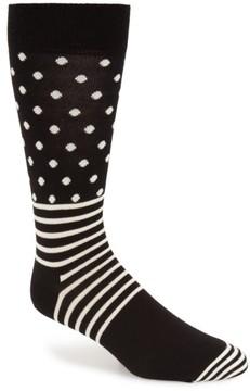Happy Socks Men's Stripes & Dots Crew Socks