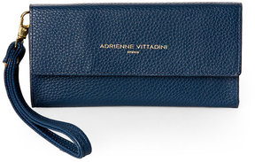 adrienne vittadini Navy Pebbled Phone Wristlet Wallet