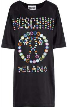 Moschino Embellished Satin Mini Dress