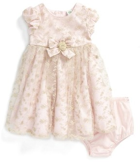 Little Me Infant Girl's Floral Embroidery Dress