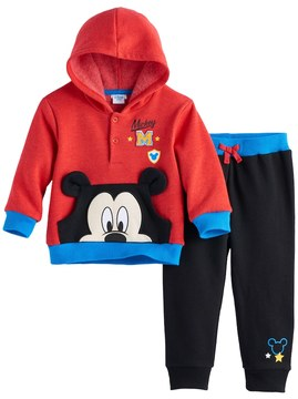 Disney Disney's Mickey Mouse Baby Boy Pullover Hoodie & Pants Set