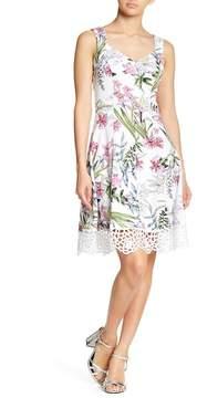 Donna Ricco Floral Print Crepe Scuba Dress