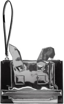 McQ Black and Silver Electro Bunny Pouch