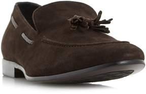 Dune London RETREAT - BROWN Plait Detail Tassel Loafer Shoe