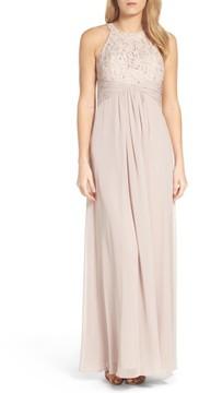 Eliza J Women's Beaded Lace & Chiffon Gown