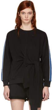 3.1 Phillip Lim Black and Blue Waist Tie Sweatshirt