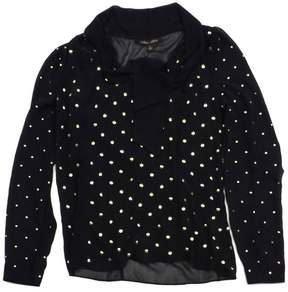 Cynthia Steffe Black & Gold Studded Long Sleeve Blouse