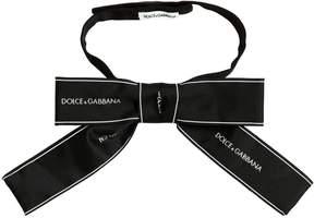 Dolce & Gabbana Logo Printed Grosgrain Bow Collar