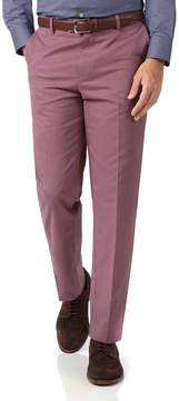 Charles Tyrwhitt Light Pink Classic Fit Flat Front Non-Iron Cotton Chino Pants Size W32 L32