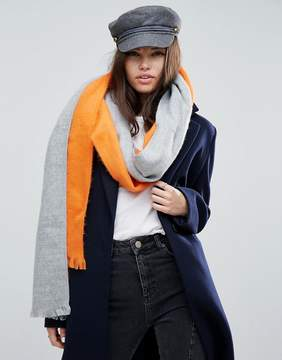 Asos Deconstructed Scarf In Color Block
