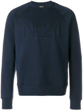 No.21 logo embroiderd sweatshirt