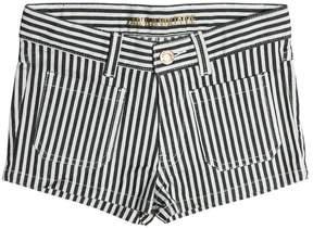 Zadig & Voltaire Striped Stretch Cotton Denim Shorts