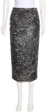 Antonio Berardi Jacquard Midi Skirt