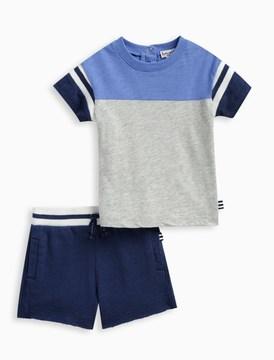 Splendid Baby Boy Football Tee and Short Set