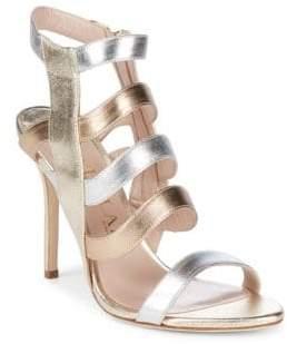 Aperlaï Open Toe Leather Sandals
