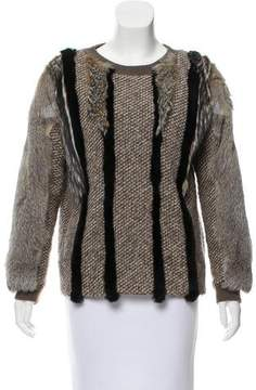 O'2nd Fur-Trimmed Wool-Blend Sweater