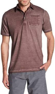 Burnside Spread Collar Burnout Polo