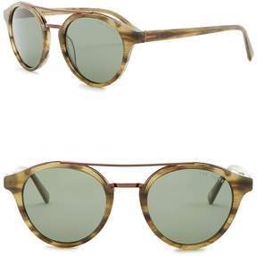 Ted Baker 51mm Polarized Round Sunglasses