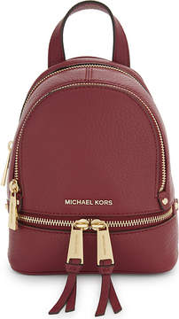 MICHAEL Michael Kors Rhea extra-small leather backpack - MULBERRY - STYLE