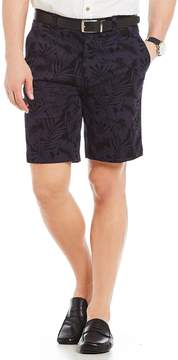 Roundtree & Yorke Big and Tall Flat-Front Floral Print Shorts