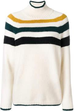 Closed stripe pullover