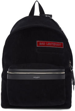 Saint Laurent Black Corduroy Bad Lieutenant City Backpack