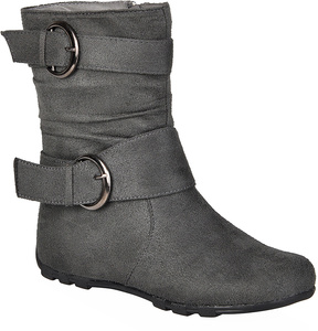 Journee Collection Gray Katty Boot
