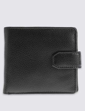 Marks and Spencer Leather Classic Bi Fold Coin Wallet with CardsafeTM