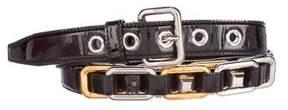 Miu Miu Patent Leather Chain-Link Belt