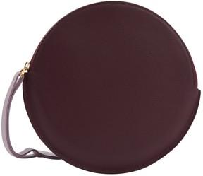 Roksanda Burgundy Leather Clutch Bag