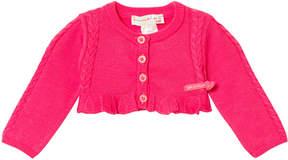 Agatha Ruiz De La Prada Pink Frill Crop Cardigan