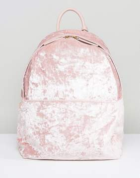 Glamorous Crushed Velvet Backpack