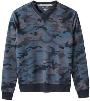 Joe Fresh Men's Camo Print Sweatshirt, Navy (Size M)