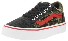 Vans Kids Old Skool (camo & Denim) Skate Shoe.