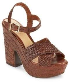 Schutz Bob-Loo Woven Leather Platform Sandals