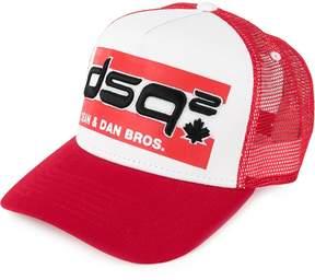 DSQUARED2 Flag embroidered baseball cap