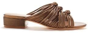 Rachel Zoe | Wren Knotted Metallic Leather Slides | 6.5 us | Pale pink