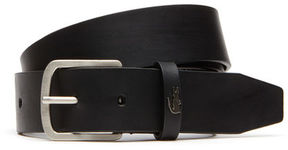 Lacoste Men's Crocodile Loop Tongue Buckle Leather Belt