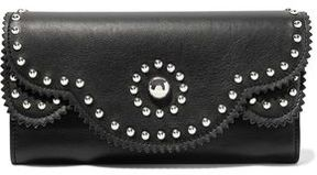 Sandro Studded Leather Wallet