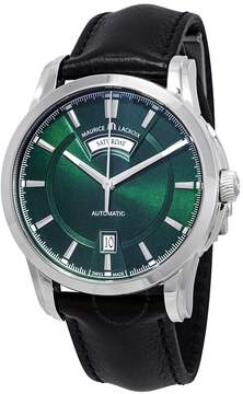 Maurice Lacroix Pontos Day Date Automatic Green Dial Men's Watch